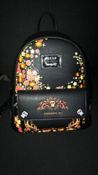 Loungefly Disney Pixar Coco Mini Backpack Remember Me Skull Floral New