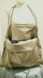 Giovanni Rucci Crossbody Hobo Clutch Bag Chain Versatile Metallic Gold Large $48.00