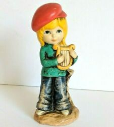 Action LITTL ONES Vintage Figurine from JAPAN Girl With a Lyre