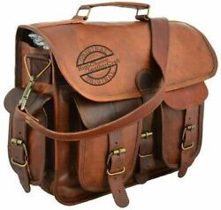 Vintage Genuine Leather Satchel Shoulder Bag Messenger Laptop briefcase for Men $49.90