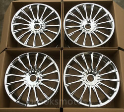 19 S65 Staggered Chrome Style Wheels Rims For Mercedes Benz W222 S Class S600
