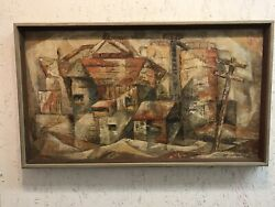 Vintage Eva Mcmurrey Oil Painting - Authentic Signed Dated Listed Texas Artist
