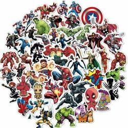104pc Superhero Video Game Anime Vinyl Stickers Pack for Hydro Flask Laptop Car
