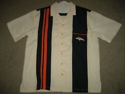 Denver Broncos 'spare' Bowling Shirt With Classic Local Style Back Sz Large