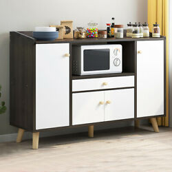 Modern Wooden Sideboard Storage Cabinet Cupboards Shelf Multi Function Furniture