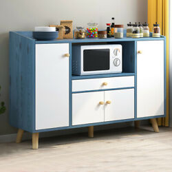 Simple Wooden Sideboard Storage Cabinet Cupboards Multi Function Kitchen Home US