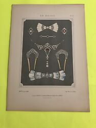 Le Bijou Revue 1912 Antique French Jewelry Chromatography Drawing 16