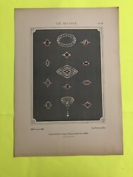 Le Bijou Revue 1913 Antique French Jewelry Chromatography Drawing 16