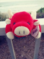 New Ty Beanie Baby Snort The Bull 1995 Retired Rare Tag Errors Numeric Date