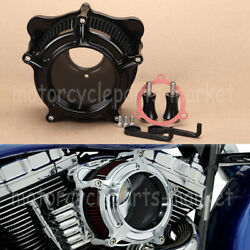 Black Clarity Air Cleaner For Harley Dyna Fxdls Softail Touring Trikes Flstnse