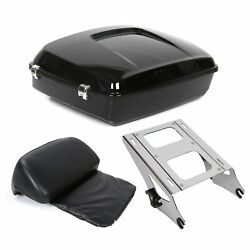 Chopped Tour Pak Pack Trunk +pad W/ Two-up Rack For Harley Road King Glide 14-21