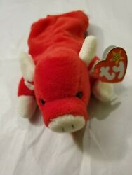 Ty Beanie Baby Snort The Red Bull Style 4002 - Collectible With Unique Errors
