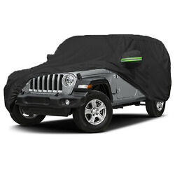 Suv Car Cover 420d Waterproof Snow Dust Protection For Jeep Wrangler Unlimited