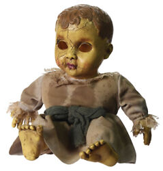 Halloween Haunted Baby Doll W/sounds, Spooky Decorations Scary Prop Evil Zombie
