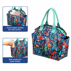 Insulated Lunch Bag Totes Cooler Large Bento Lunch Box Bag For Women Girl Office
