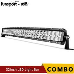 32inch 420w Led Light Bar Spot Flood Combo Fits Ford Offroad Truck Suv Atv 30in