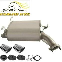 Stainless Steel Exhaust Muffler With Bolts Hangers Tips Fits 2003-2004 G35 Sedan