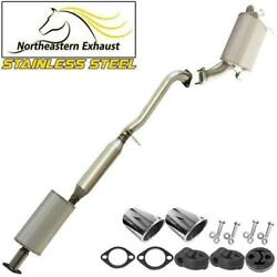 Stainless Steel Exhaust System With Hangers Bolts Tips Fit 2003-04 G35 Sedan Rwd