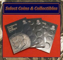 Complete Set Kennedy Pandd Half Dollar Coins 1964-2019 W/ 3 Albums And 1970d No-585