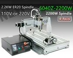 6040 2.2kw Er20 Spindle 6040z-2200w Cnc Router Engraver Drilling Milling Machine