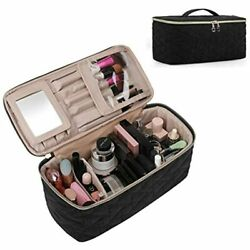 Makeup Bag Cosmetic Large Toiletry Travel Case Organizer For Women Black Beauty $41.18