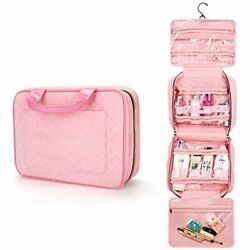 Large Travel Toiletry Bag With Hanging Hook Jelly Comb Waterproof Cosmetic For $26.78