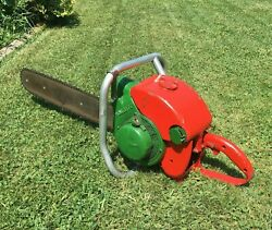Vintage Homelite 5-20l Large 24 Chainsaw Antique Logging Wood Cutting Chain Saw