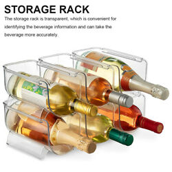 Clear Wine Bottle Organizers Rack Holder For Kitchen Counter Tops Pantry Fridge