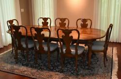 Italian Georgian Style Dining Room Set Table And Eight Chairs Ball And Claw Feet
