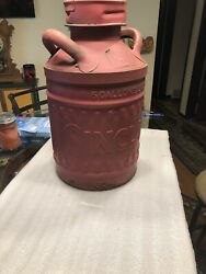 Scarce Embossed Vintage Sinclair 5 Gallon Fluted Oil Can Ellisco