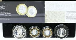 2009 Uk Piedfort Sterling Silver Proof 4 Coin Set Kew Gardens 50p Henry Viii Andpound5