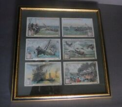 Lot Of 6 Antique Chromolithograph Whaling Advertising Cards 1890 Liebigs Meat