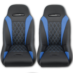 Pair Of Blue Aces Racing Apex Suspension Seats Yxz 1000 Yxz Brackets Included