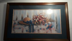 Glynda Turley Signed And Numbered Print Wild Roses. 1160/3000 With Coa 1987