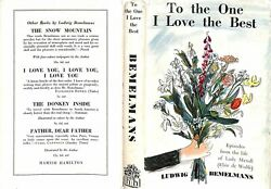 To The One I Love The Best 1955 Bemelmans Ludwig Inscribed