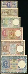 Ceylon 1 2 Rupees 1941 Pick 34 35a 5 10 Rupees Total 6