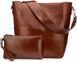 Realer Hobo Purses and Handbags for Women Tote Bag Large Bucket Bags with Wrist $38.69