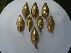 Vintage Brass Ducks Collectible Figurines Assorted Lot Of 8