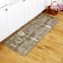 Kitchen Runner Rug With Nonslip Backing And Eat Laugh Live Sentiment