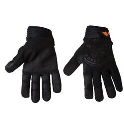 Klein Tools Gloves Large Non Slip Touch Screen Wire Pulling Fabric Unisex Black