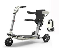 Atto Freedom Travel Scooter W Armrests - Folding Mobility Scooter With Free Pandp