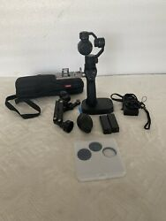 Dji Osmo 4k Camera 3-axis Gimbal Bundle Package W/ Z-axis Extension Rod Extras