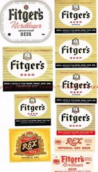 Lot Of Ten 1940s-50s Minnesota Duluth Fitger Brewery Labels Tavern Trove