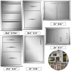 Bbq Access Doors And Drawers Outdoor Kitchen Bbq Island Components Flush Mount