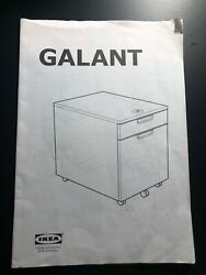 Ikea Galant File Cabinet With Wheels Assembly Instruction Manual