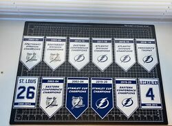 2021 Champs Tampa Bay Lightning Champion Retired Decal Banner Set Nhl Bolts