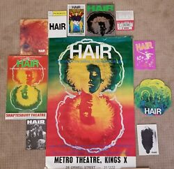 Rare Vintage World Wide Collection Of Hair Posters And Programsandnbsp
