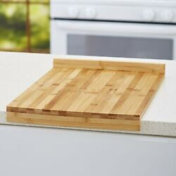 Stay-put Kitchen Cutting Board With Raised Edge - Bamboo Wood