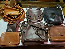Lot Of 6 Leather Designer Bags Coach Dooney and Bourke $290.00