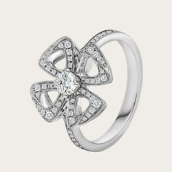 1.00 Ct Round Real Diamond Solitaire 14k White Gold Engagement Ring Size 5 6 7